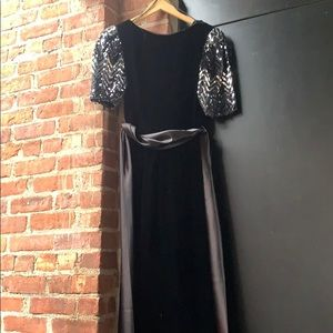 Vintage velvet and sequin party dress